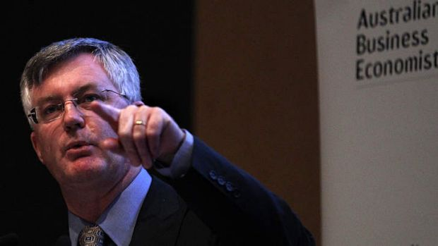 Treasury secretary Dr Martin Parkinson defends his agency at an Australian Business Economists lunch last month.