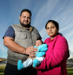 Rort victim Bhawna Verma, with Harvinder Mehta and their son Kiyan.