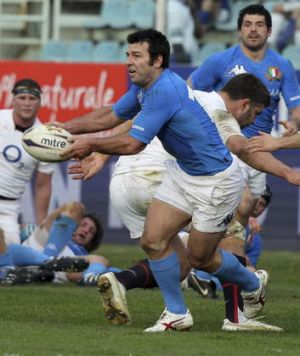 He's back: Craig Gower played 14 rugby Tests for Italy.