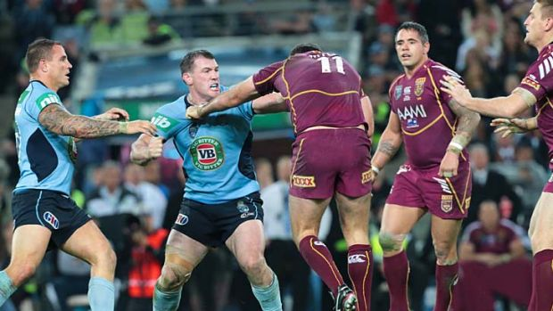 """""""Dog act"""": Steve Renouf has hit out at  Paul Gallen."""