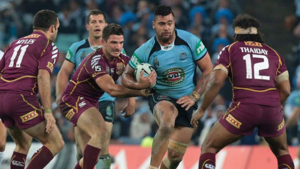 Unstoppable: Andrew Fifita with the ball.