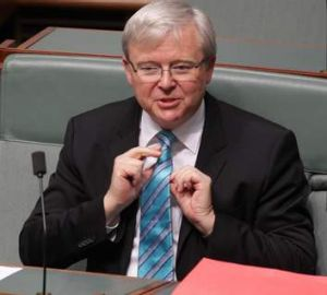 Kevin Rudd during Question Time on Thursday.