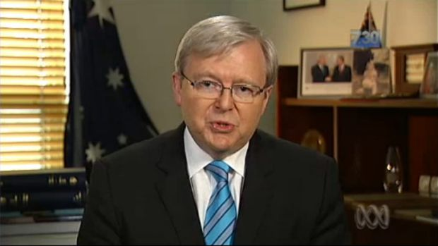 Kevin Rudd on the ABC's 7.30.