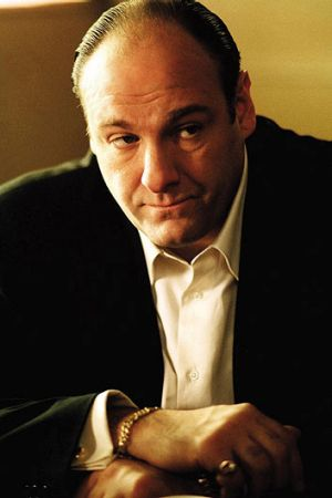 James Gandolfini in <i>The Sopranos</i>, which topped the Writers Guild of America's list.