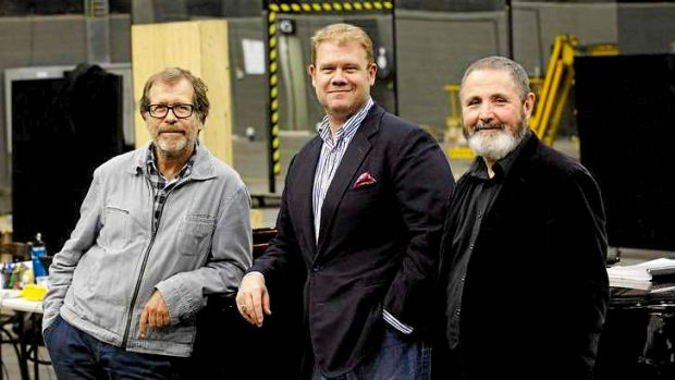 Neil Armfield, Stuart Skelton and Richard Mills at Melbourne Ring rehearsals.