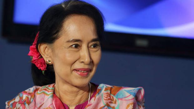 Eyeing the presidency: Aung San Suu Kyi called for a military-drafted law to be amended to allow her to contest ...
