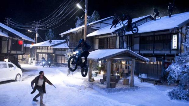 Not so silent night: Hugh Jackman in <i>The Wolverine</i>.
