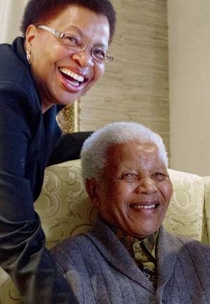 Mandela and his wife Graca Machel at their home in August 2012.