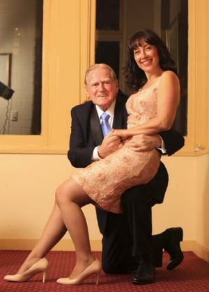 Changing times: The Reverend Fred Nile proposes to bride-to-be Silvana Nero.