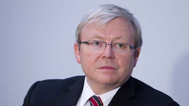 High-profile campaign: Former PM Kevin Rudd.