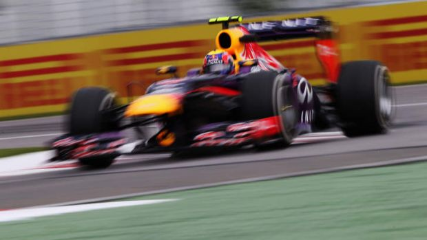 Unsettled: Mark Webber during practice for the Canadian Grand Prix in Montreal.