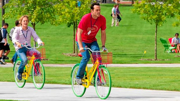 No Snoogle ... Vince Vaughn, right, says <i>The Internship</i> is steeped in social realism.