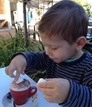 Marshmallow adds zest to a babycino