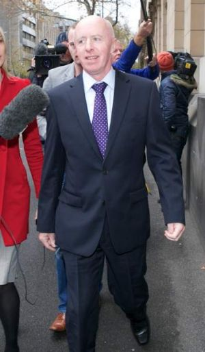 George McKeon, Ms Meagher's father, outside court.