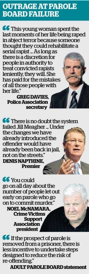 Who said what about the parole board revelations.