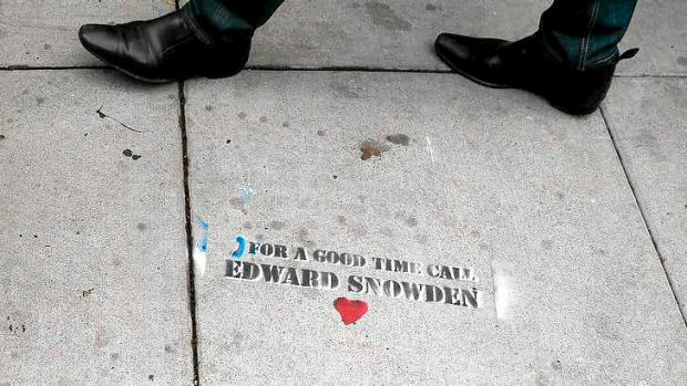 Graffiti that is sympathetic to NSA leaker Edward Snowden in San Francisco. Edward Snowden, a former contractor for the ...
