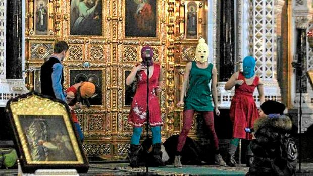 "Unorhodox: In July 2012, the radical feminist group Pussy Riot chanted a ""punk prayer"" against Vladimir Putin at ..."