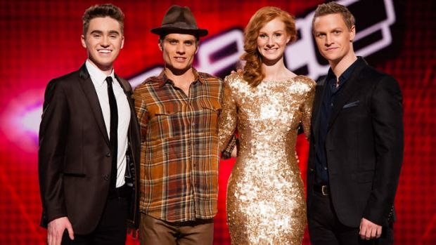 Who's the standout? (left to right) Harrison Craig, Danny Ross, Celia Pavey and Luke Kennedy are in the finals of Nine's ...