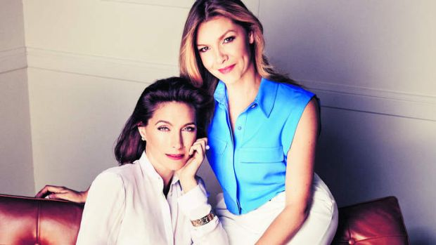 Soul sisters: Claudia Karvan (left) and Justine Clarke have been friends since childhood and co-star in the new series ...