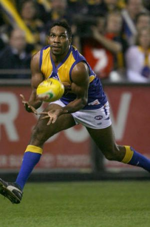 David Wirrpanda in action during his AFL career.