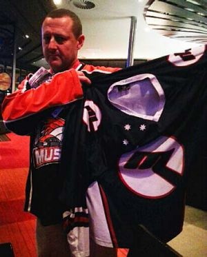 Ice fan Andy O'Connor bet that an Ice player would be man of the match in the Melbourne derby. Mustang goalie Jon ...