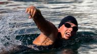 Stung McCardel forced to abandon swim (Video Thumbnail)