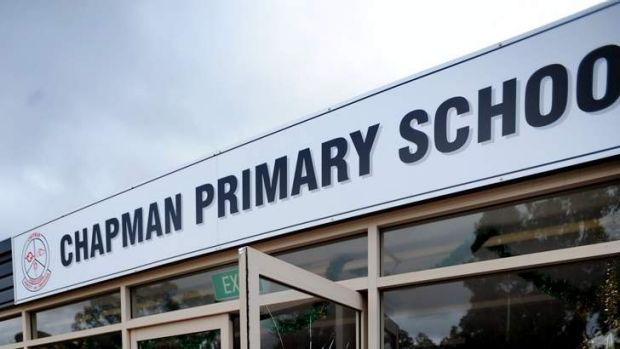 A near miss outside Chapman Primary school has prompted an inquiry by the Australian Federal Police.