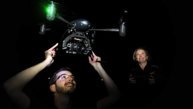 Brett White and his mum Kerry White are the first certified Unmanned Aerial Vehicle operator in Canberra.