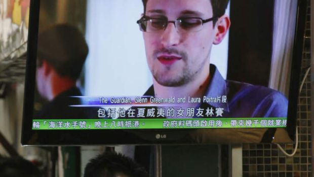 Keen to stay in Hong Kong: Edward Snowden emerged from hiding.