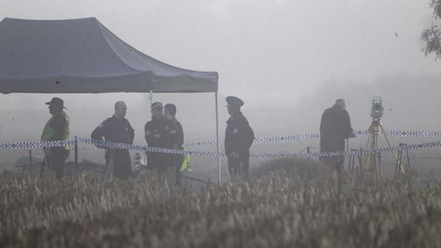 Mystery: Police from Strike Force Fitr continue the search on a property near Hay on Thursday for the remains of ...