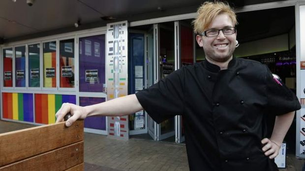 Barcode Lounge and Bar executive chef Nick Hammond in front of the new gay, lesbian, intersex and transgender friendly ...