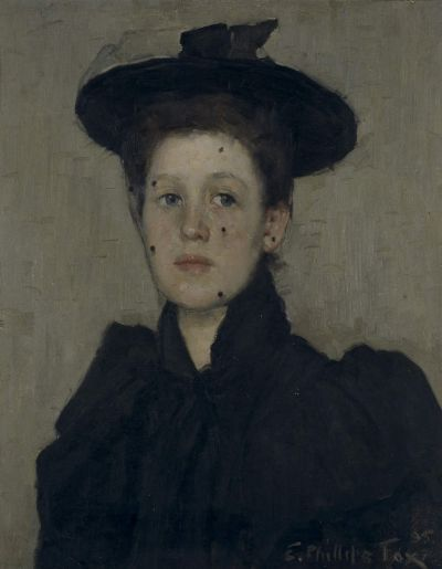"E. Phillips Fox, ""The orphan"", 1895, oil on canvas, 53 x 42cm, The Wesfarmers Collection, Perth."