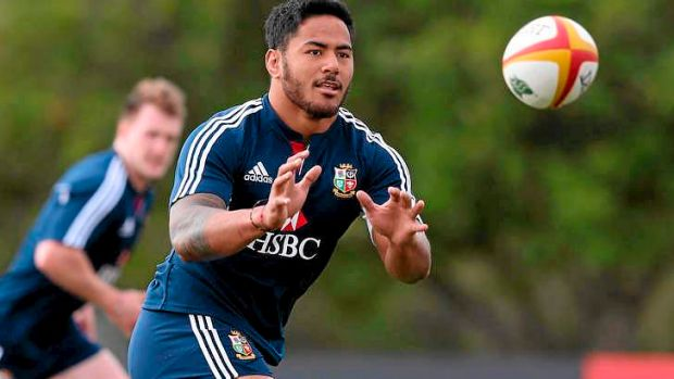 Shoulder problem:  Manu Tuilagi of the Lions.