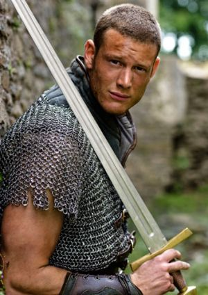 Tom Hopper as Sir Percival in the BBC series <i>Merlin</i>.
