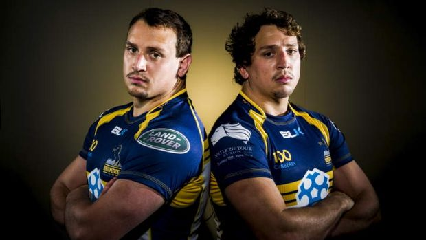 Identical twins Ruan and JP Smith will play together for the Brumbies on Tuesday night.