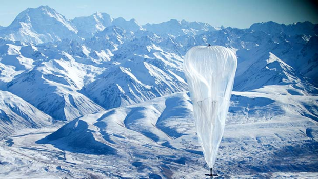 Free internet: Project Loon sails through the stratosphere.