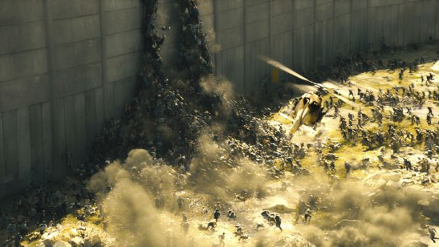 This is how the world ends:  Zombies climb the walls in <i>Word War Z</i>