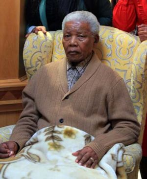 Father of a country: Nelson Mandela.