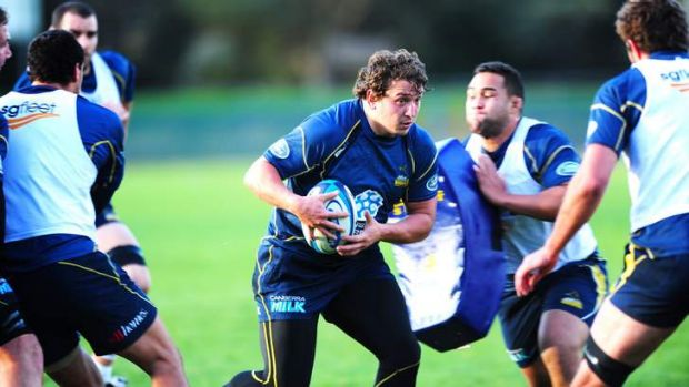 Ready for the Lions: Brumbies prop Ruan Smith during preparations for Tuesday's match with the tourists.