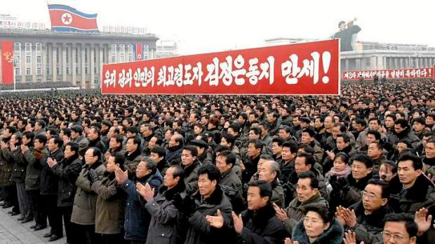 North Koreans attend a rally celebrating the country's third nuclear test in February. North Korea has proposed ...