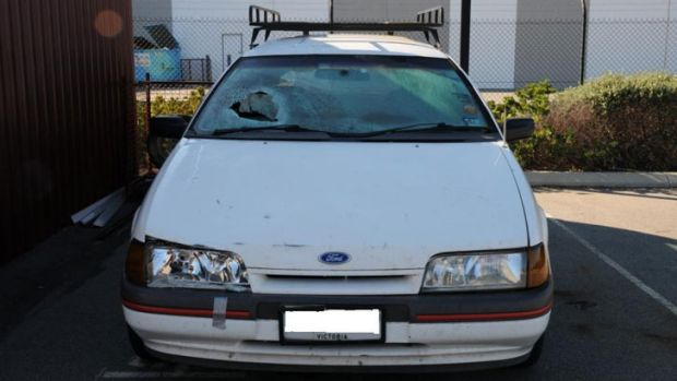The vehicle involved in the Subiaco crash had Victorian plates and a full-length roof rack.