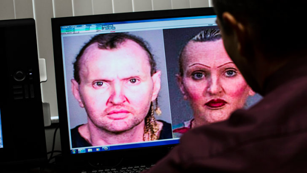 Facial mapping is demonstrated at the Pinellas County Sheriff's Office in Florida which has one of the most advanced ...