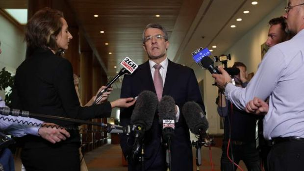 The Minister for the Public Service Mark Dreyfus speaks to the media.