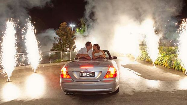 Groomzilla: Leigh and Sara Rust and their wedding day fireworks.