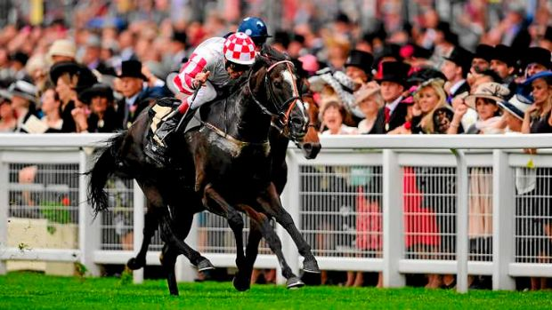 Sole Power (Johnny Murtagh) wins the King's Stand Stakes on day one of the Royal Ascot carnival at Ascot Racecourse in ...