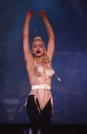 Stand-out ... Madonnna performing on the Blond Ambition Tour in Tokyo, Japan, in 1990.