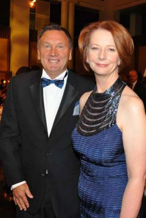 Prime Minister Julia Gillard with partner Tim Mathieson at the 2012 Midwinter Ball.