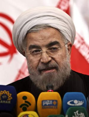 Newly elected Iranian President Hassan Rouhani.