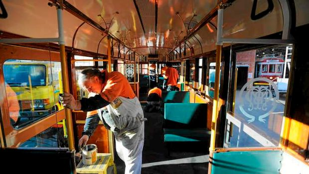 The Bendigo Tramways team add the finishing touches to their year-long restoration project.