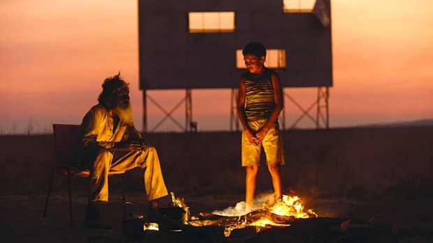 Walkabout: David Gulpilil (left) and Cameron Wallaby journey between old and new worlds in Catriona McKenzie's ...